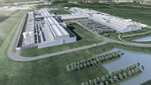 Facebook er blant de amerikanske IT-gigantene som legger datasentre i Danmark. Bildet er en skisse av datasenteret som bygges ved Odense. Dette er ikke like stort som det som nå planlegges ved Esbjerg.