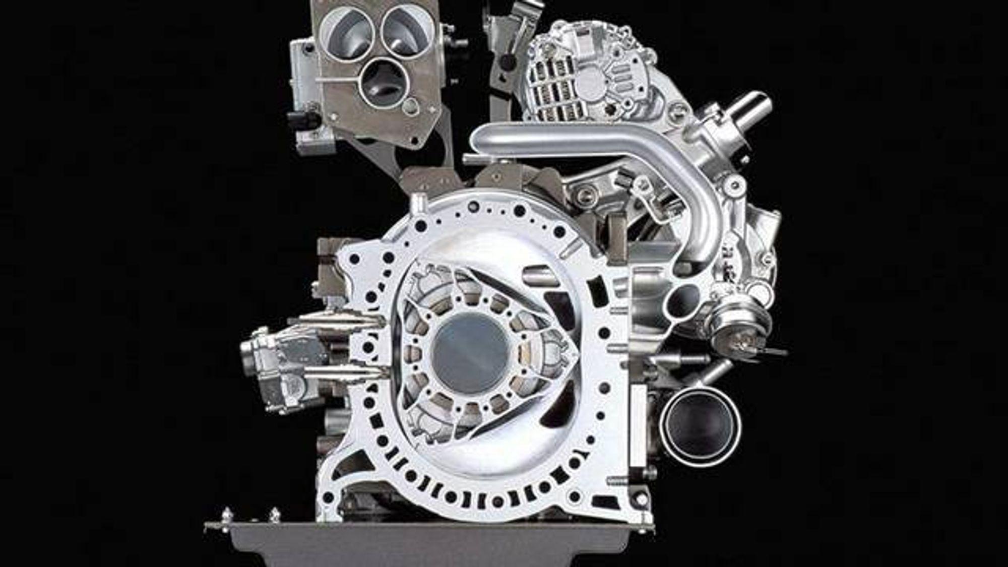 Mazda mener at rotasjonsmotoren er ideell som rekkeviddeforlenger.