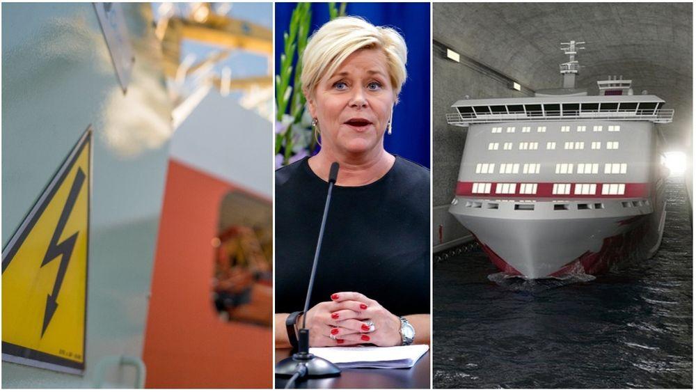 Siv Jensen la frem forslag til Statsbudsjett 2019 onsdag 8. oktober.