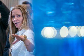 Fornebu  20181009.Administrerende direktør Nina Jensen i REV Ocean under lanseringen av World Ocean Headquarters (WOH), et verdensledende havsenter, på Fornebu.Foto: Heiko Junge / NTB scanpix