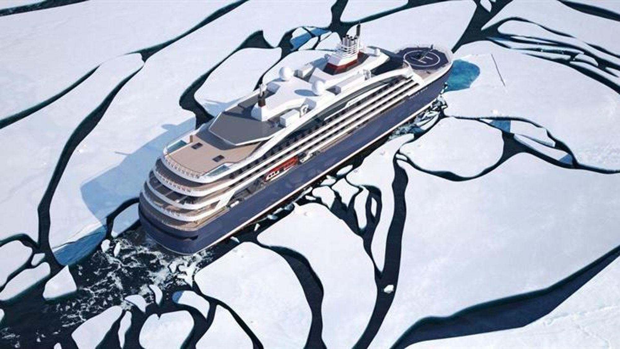 Wärtsilä leverer motorene til Ponants hybride cruiseskip, som skal gå i polare strøk.