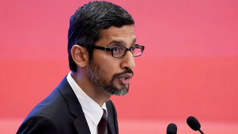 Google-sjef Sundar Pichai under China Development Forum 2018.