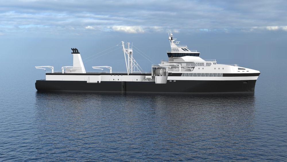 Krilltråleren Antarctic Endurance er ferdig bygd i begynnelsen av 2019. Nå er det tegnet kontrakt på forsyningsskipet som skal betjene det.