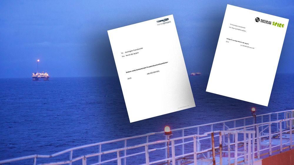 Norsk olje og gass sendte et notat til finanskomiteen, bestående av én enkelt setning: Inntektene fra olje og gassproduksjonen på norsk sokkel. Natur og Ungdom og Spire synes notatet var arrogant, og at det krevde et svar. Det laget de etter samme mal.