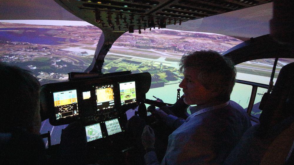NY SIMULATOR: Luftambulansetjenestens nye simulator er spesialtilpasset både egne helikoptre og norsk terreng.