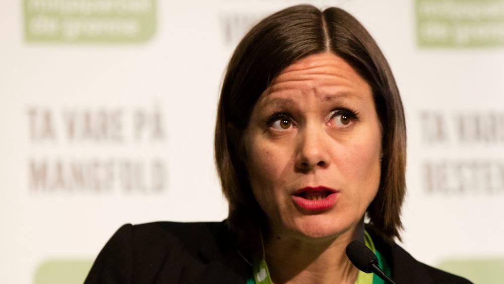 Hanna Marcussen i debatt før votering på MDG-landsmøtet på Scandic Lillehammer Hotel i 2017.