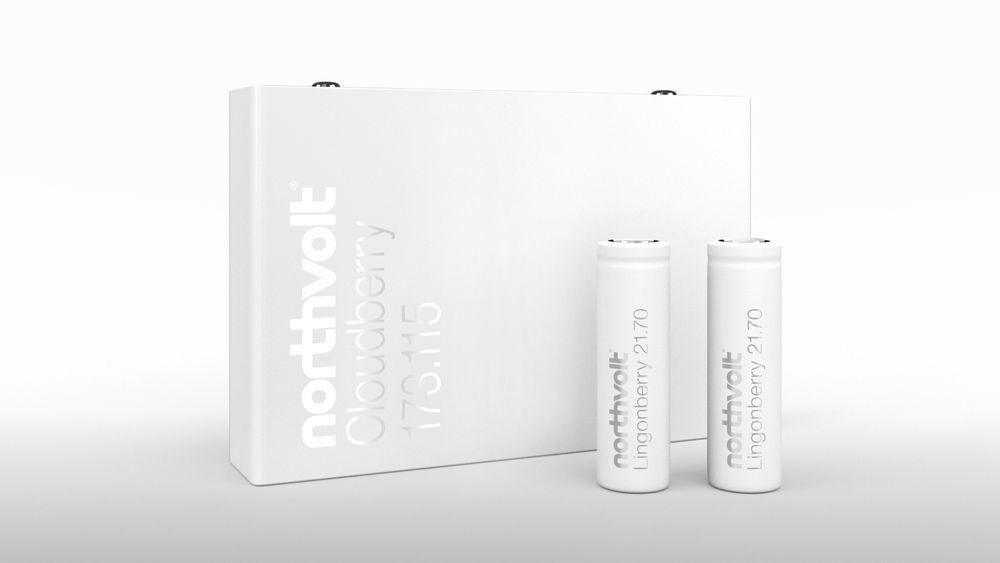 Skisse til batterier som kan produseres av ved den foreslåtte batterifabrikken til Northvolt i Sverige.