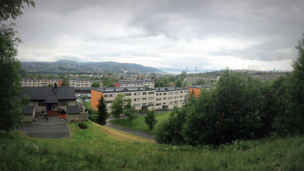 Vestlia borettslag i Trondheim, et av casene i Sintefs ferske studier av klimafotavtrykket ved energioppgradering av boligbygg.