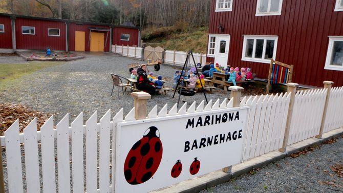 Marihøna musikk- og friluftsbarnehage på Ørland. Ann-Elisabeth Hustad og Roar Hustad.