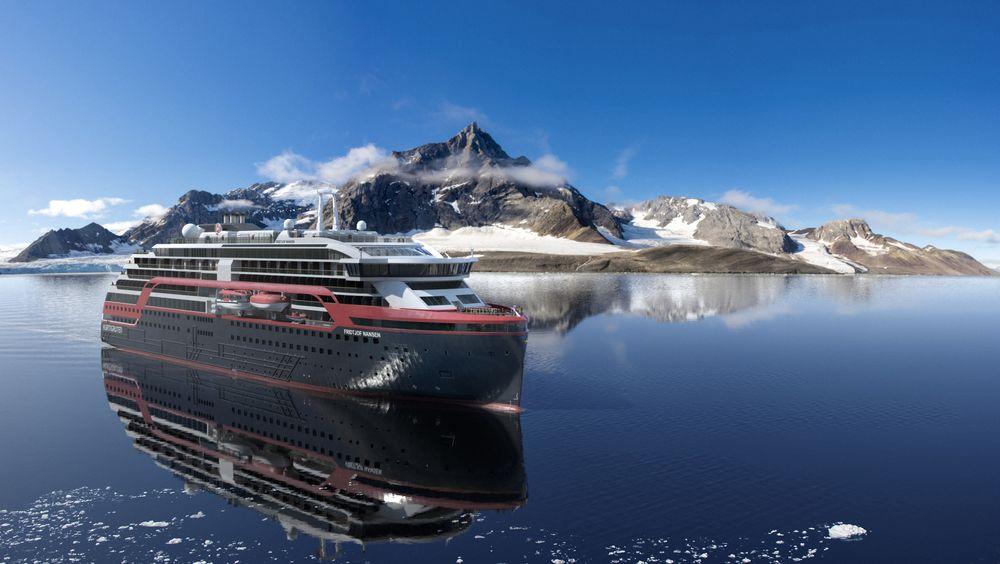 Det siste ekspedisjonsskipet av i alt tre som Hurtigruten har bestilt fra Kleven verft.