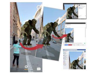 Hologrammene i Holopipe-kan deles direkte fra appen som 2D-bilder.