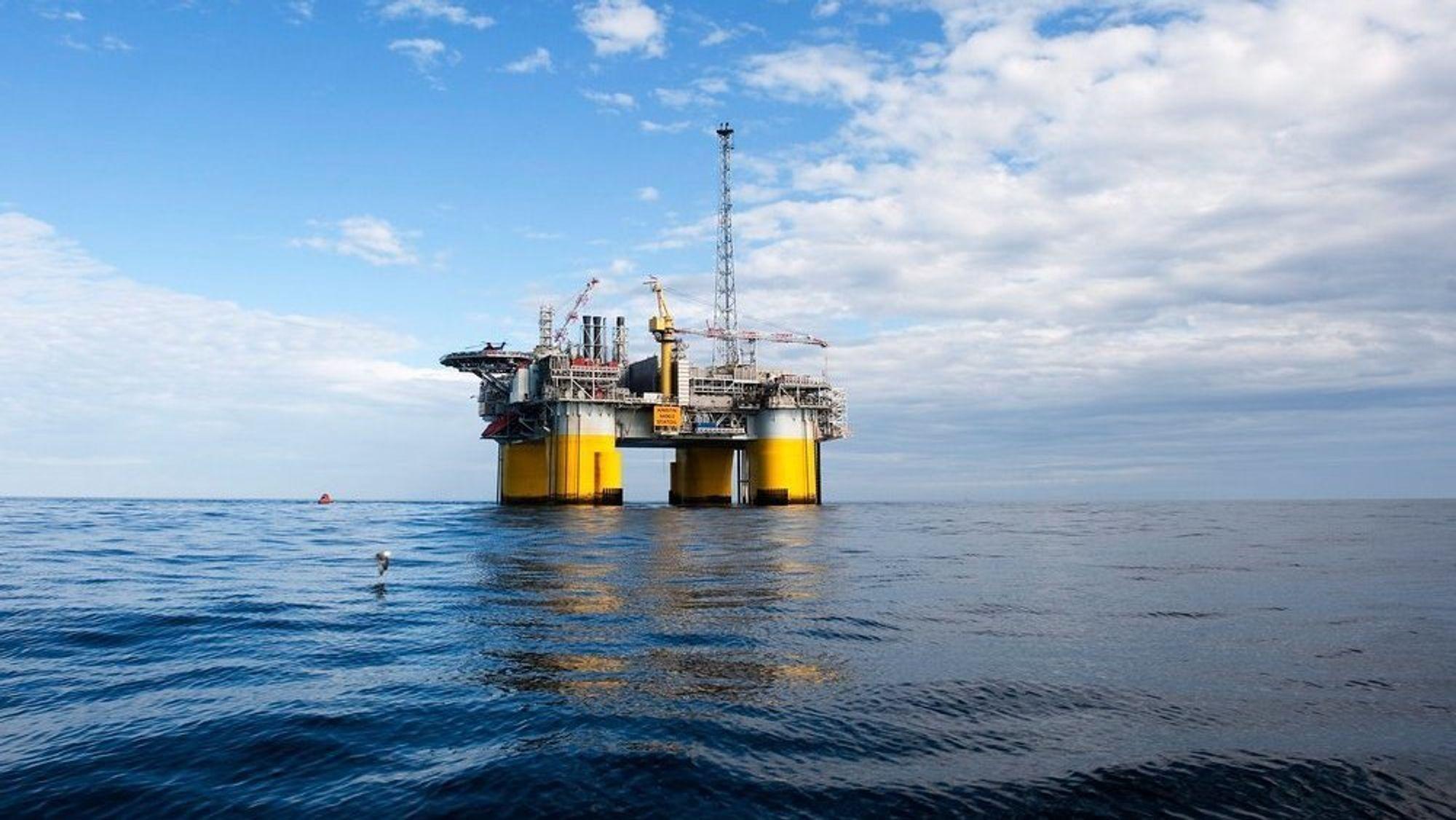 Tre av fire oljefelt på norsk sokkel produserer mindre enn prognosene. Bildet viser Kristin-plattformen, en av plattformene Maria-feltet i Norskehavet er knyttet opp mot.