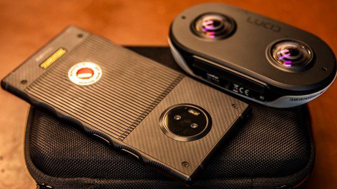 Hydrogen One og LucidCam. Foto.