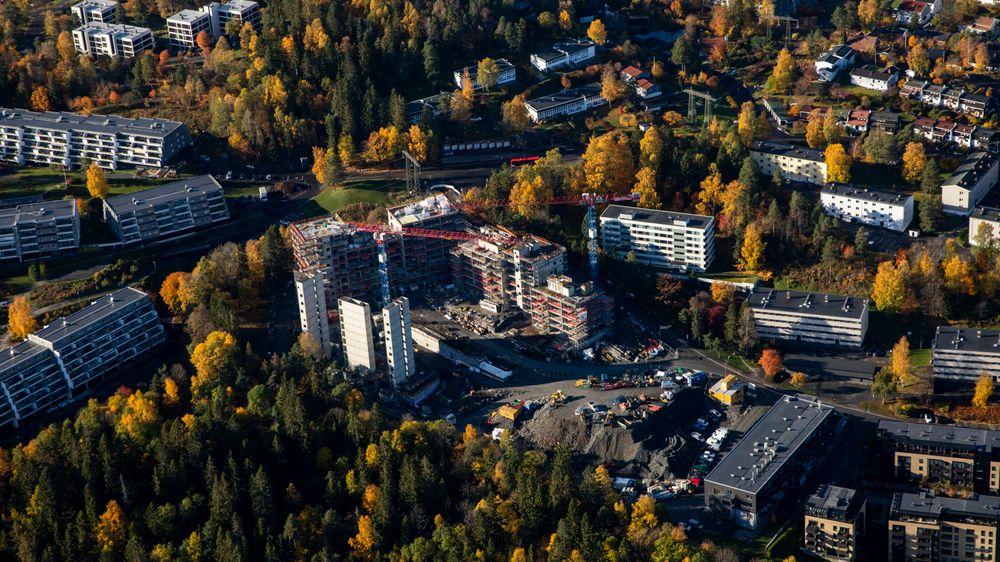 Illustrasjonsfoto: Byggeprosjekt i Bærum.