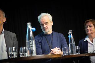 Sjefredaktør Eivind Ljøstad i Fædrelandsvennen. Her fra debatt om redaktørrollen under NRs høstmøte 5. november