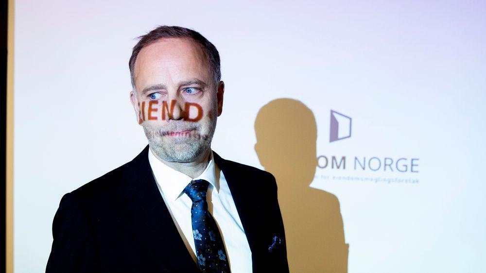 Administrerende direktør i Eiendom Norge, Christian Vammervold Dreyer, presenterte boligprisstatistikken for oktober på en pressekonferanse i Oslo.