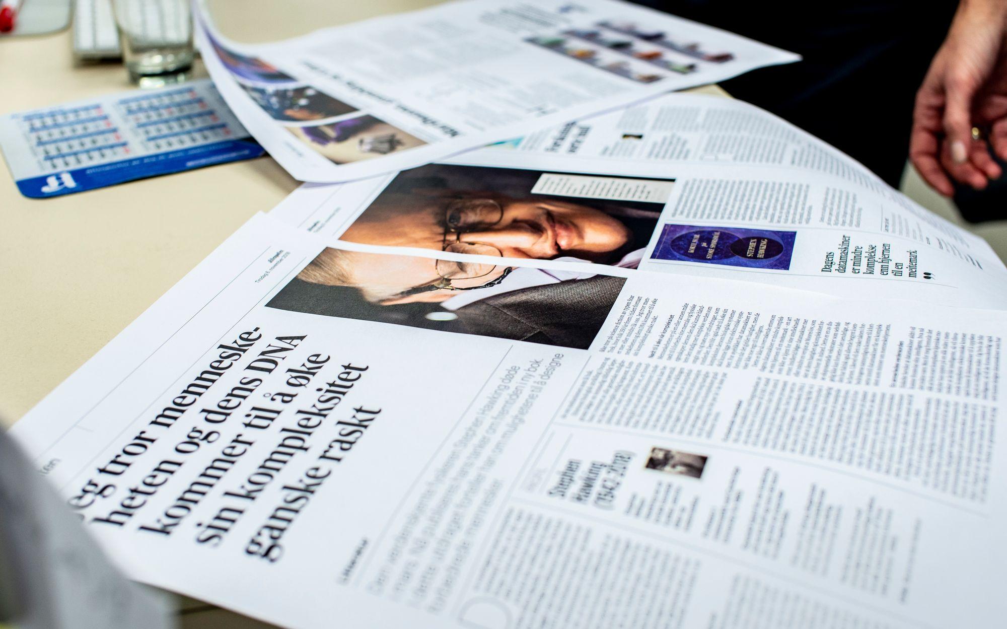 264021ae Aftenposten har fått nytt design på papir: Framhever fakta, gjør ...