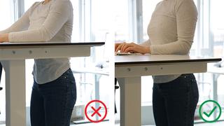 Står du ved pulten på jobb? Her er 4 ting du bør huske på.