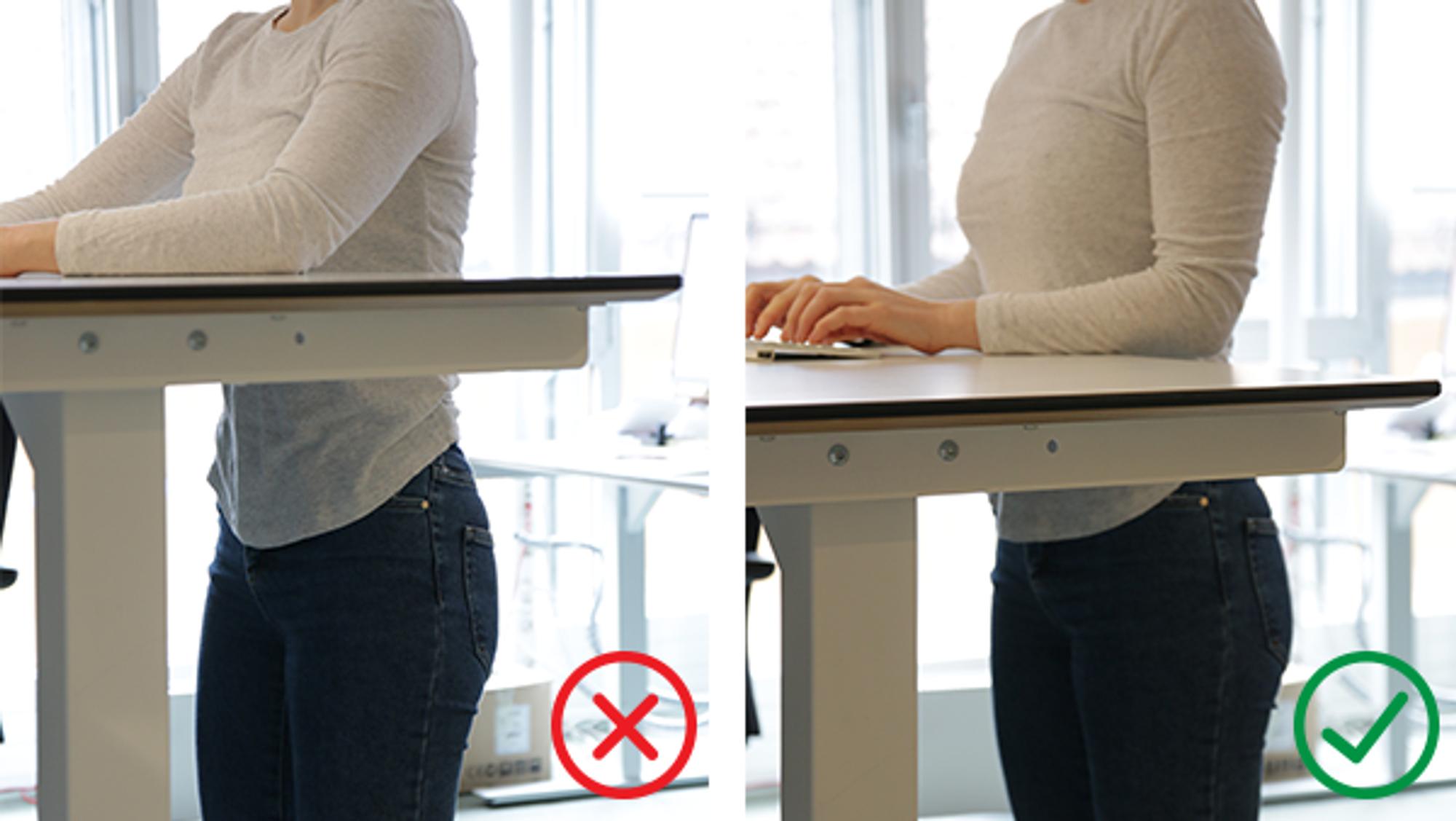 ANNONSE: Står du ved pulten på jobb? Her er 4 ting du bør huske på.
