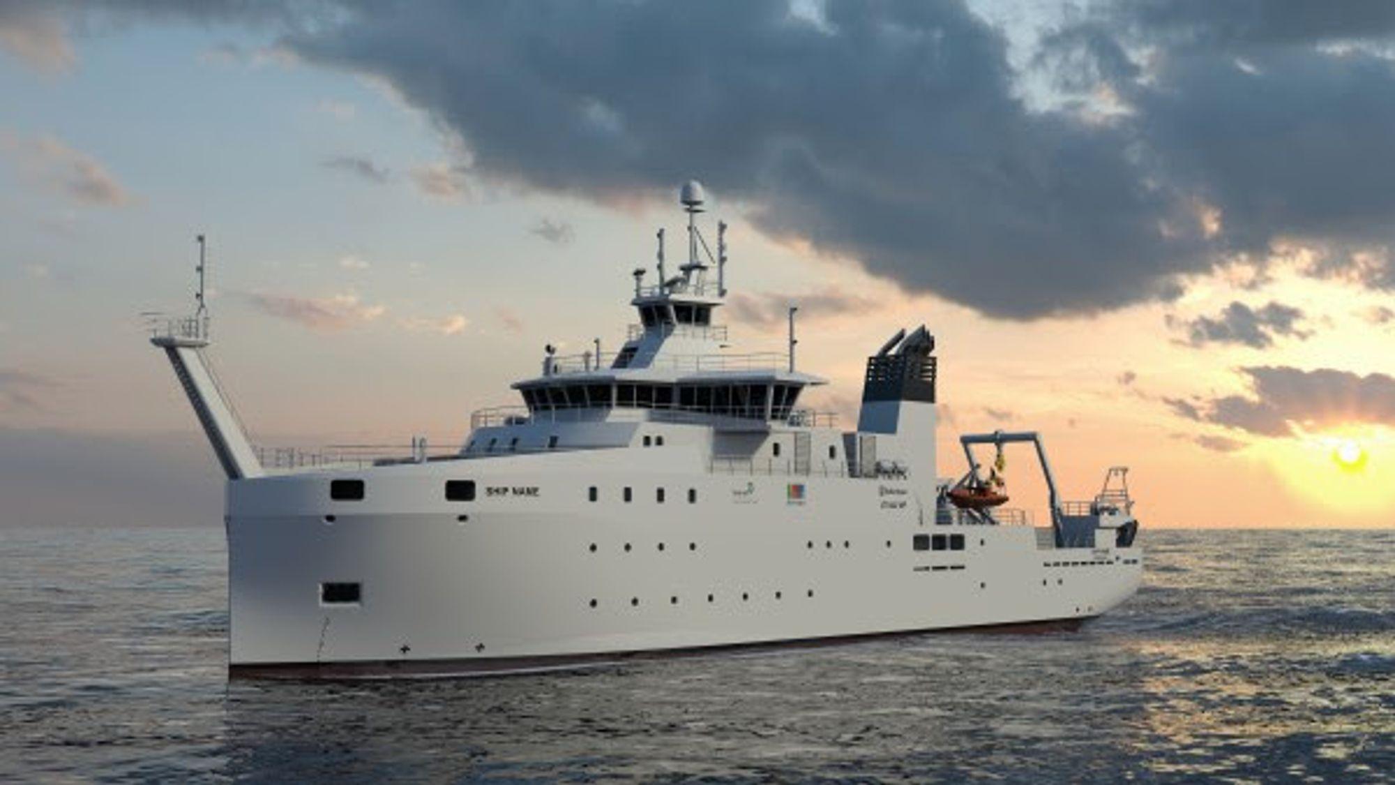 Det belgiske forskningsskipet er mindre enn det britene har bestilt, ifølge utstyrsleverandøren.