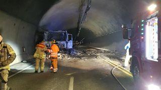 I fjor ble Oslofjord-tunnelen stengt i flere uker etter brann. Her er videoen som viser hva som skjedde