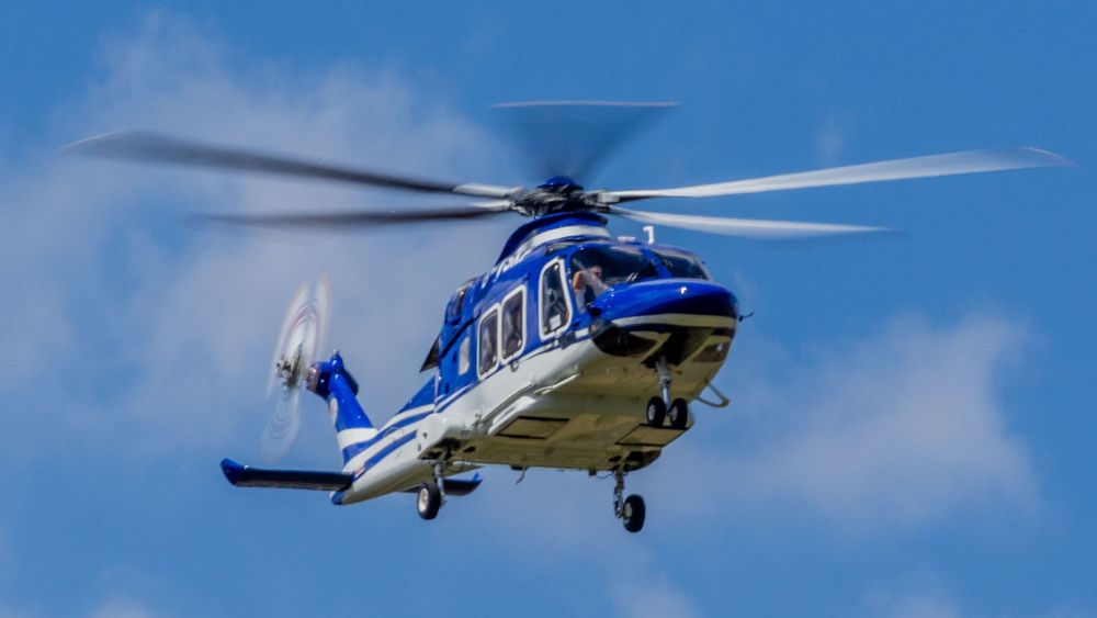 Det var dette AW169-helikopteret (G-VSKP), levert i august 2016, som havarerte i Leicester i oktober.