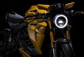 Denne motorsykkelen er utstyrt med Samsung-teknologi.