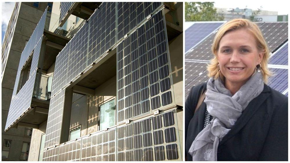 Trine Kopstad Berentsen, daglig leder i Solenergiklyngen, er kritisk til en ny rapport om solcelleteknologi og brannfare.