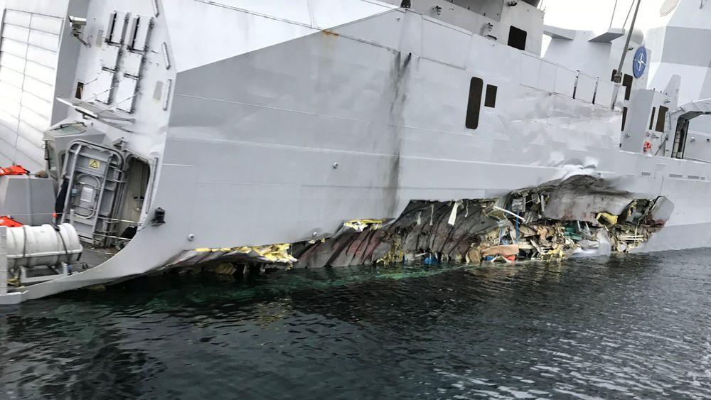 Bergingsselskapet BOA skal få fregatten opp fra vannet uten å deformere skroget. Selve fregatten ansees som så skadet at den aldri vil seile igjen. Skroget kan muligens berges og brukes på nytt, men innmaten og viktige komponenter tåler ikke mange måneder i sjøvann.