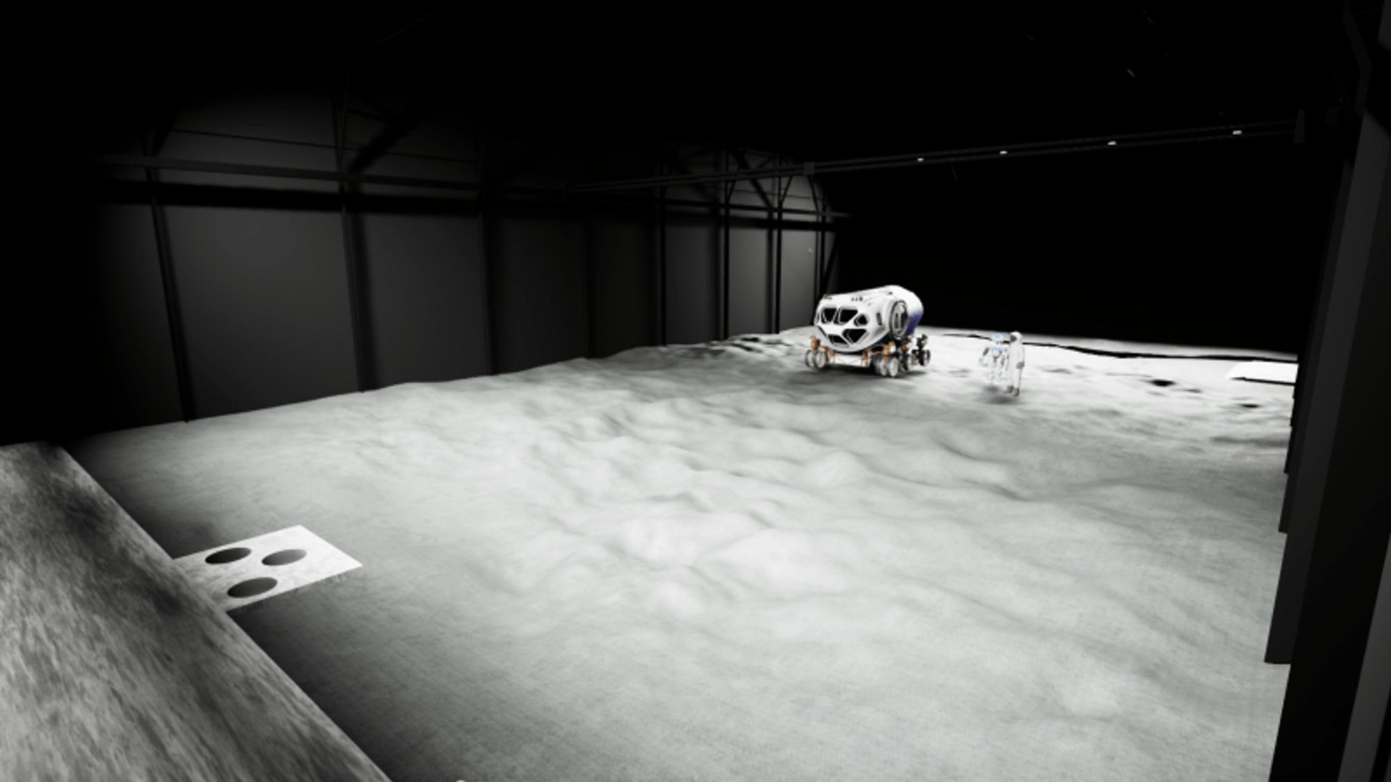 Slik forestiller man seg at Luna kommer til å se ut når testfasilitetene er ferdig bygd – men uten månebasen.