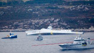 NATO: KNM Helge Ingstad drev navigasjonstrening da ulykken skjedde