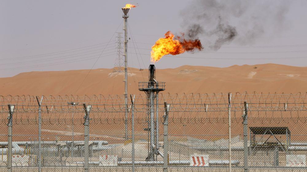 Oljeanlegg ved Shaybah-oljefeltet i Saudi-Arabia i mai.