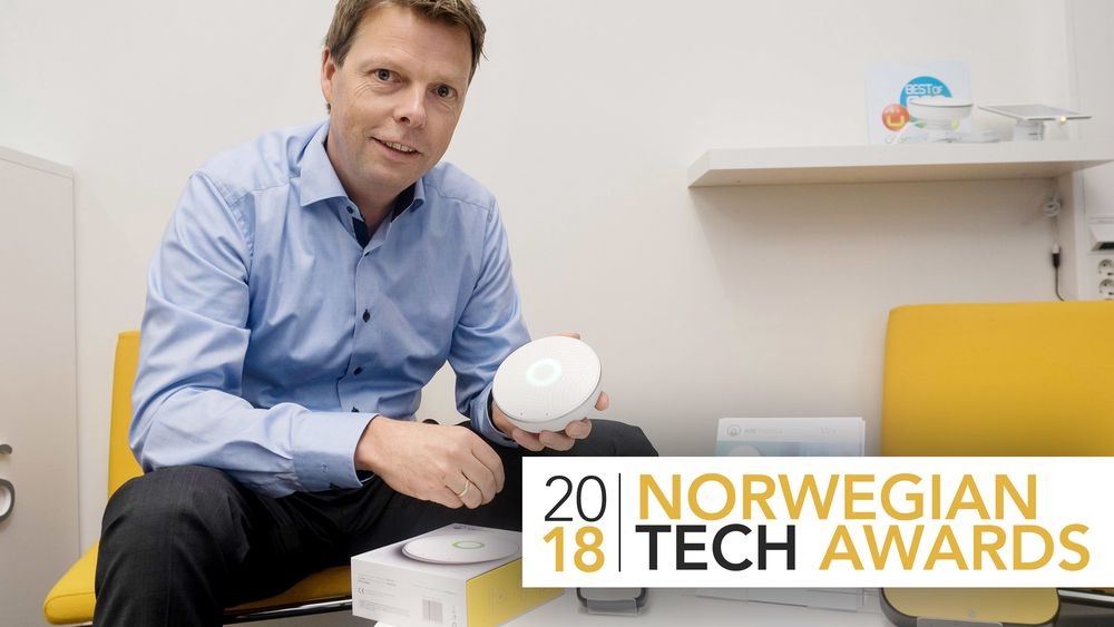 – For å virkeliggjøre en smart bygning trengs det sensorer som overvåker alt, og kan levere informasjon til styring, sier administrerende direktør i Airthings, Øyvind Birkenes.