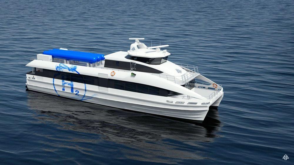 HyExpress, en 29,9 meter katamaran for 145 passasjerer designet av Brødrene Aa, er et av prosjektene involvert i Ocean HywayCluster