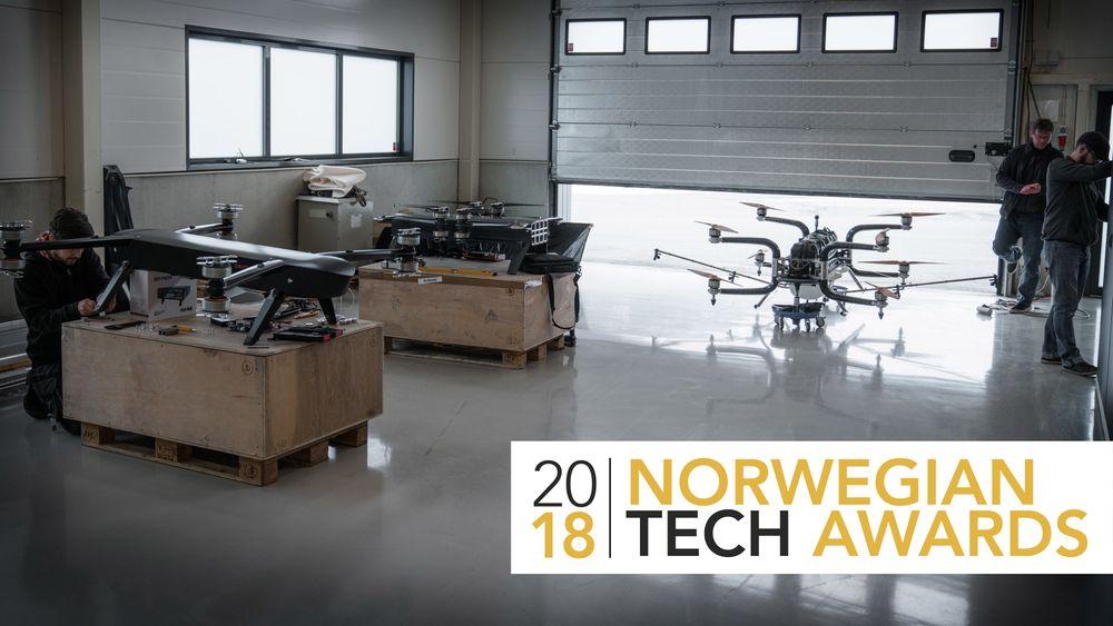 DRONEFABRIKKEN: Her i Sykkylven bygges de digre dronene fra Griff Aviation.