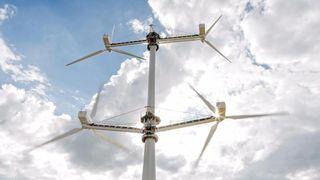 Multirotormølle overrasker: Turbulens øker strømproduksjonen