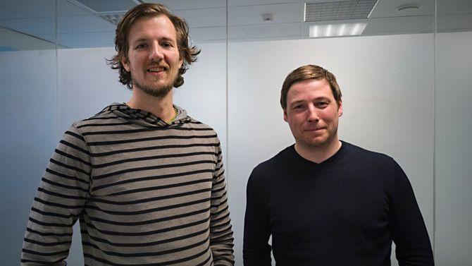 Jesper Søndergaard Pedersen og Sindre Larsen. Foto.