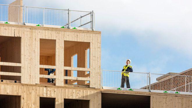 Waugh Thistleton og arkitekt Kirsten Haggart høyhus i massivtre i London