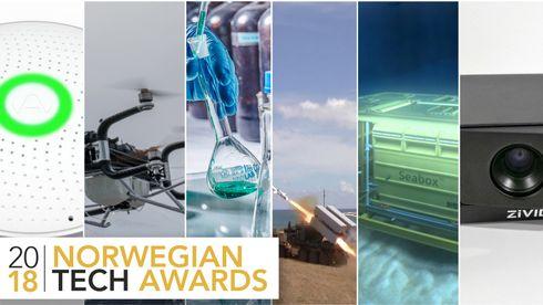 1 av disse 6 vinnerNorwegian Tech Award 2018. Nå kan du stemme