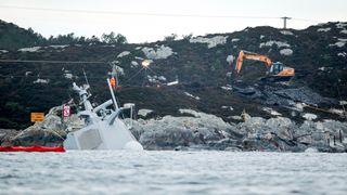 Ny sikring ser ut til å holde: Fregatten ligger mer stabilt