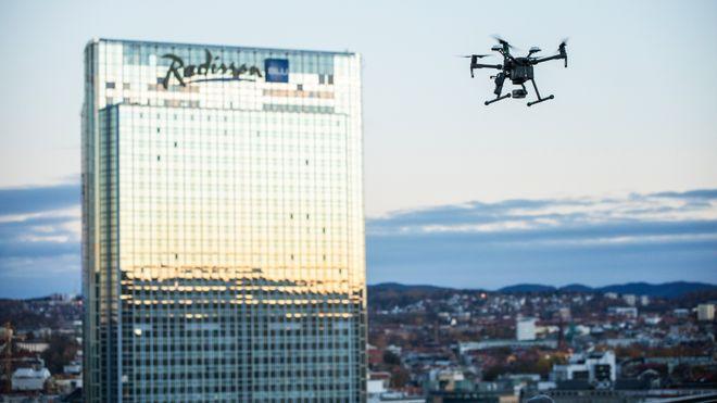 Gjennomførte hemmelig dronetransport midt i Oslo