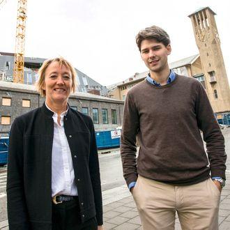 Irene Skiri og Kristoffer Larsen Seivåg leder Ny by-planleggingen i Bodø.