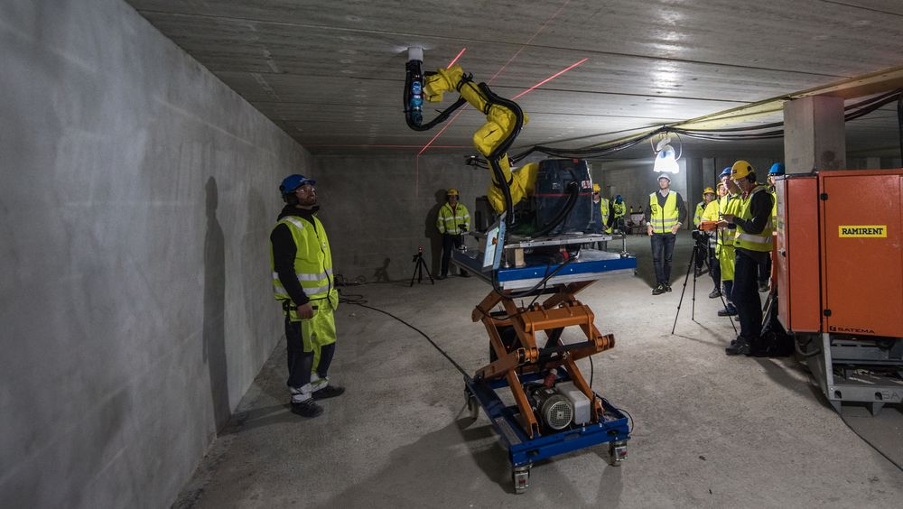 Norske nLink tjener nå penger på roboten som borer hull i betongtak.