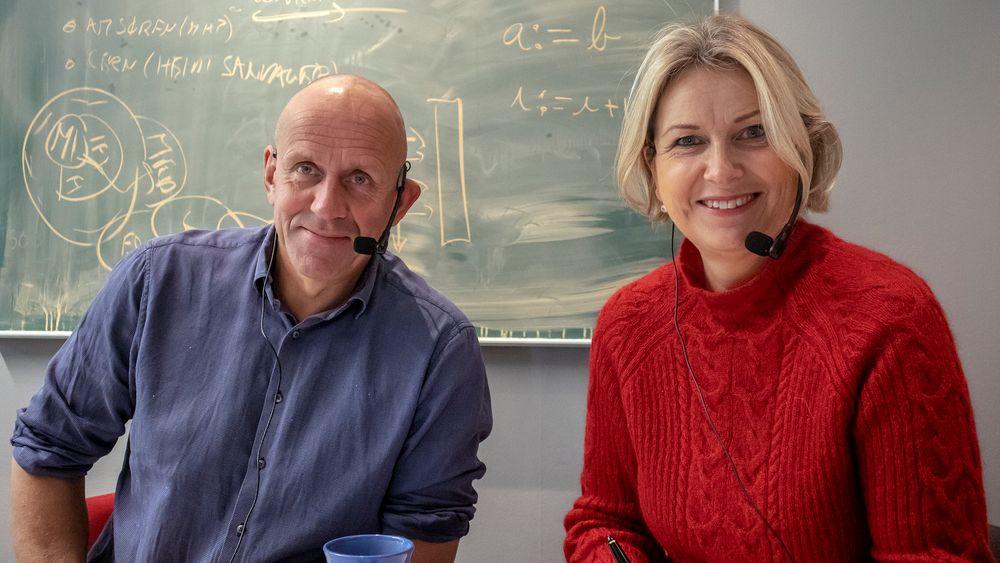 GJESTER: Kristin Vinje og Morten Dæhlen.