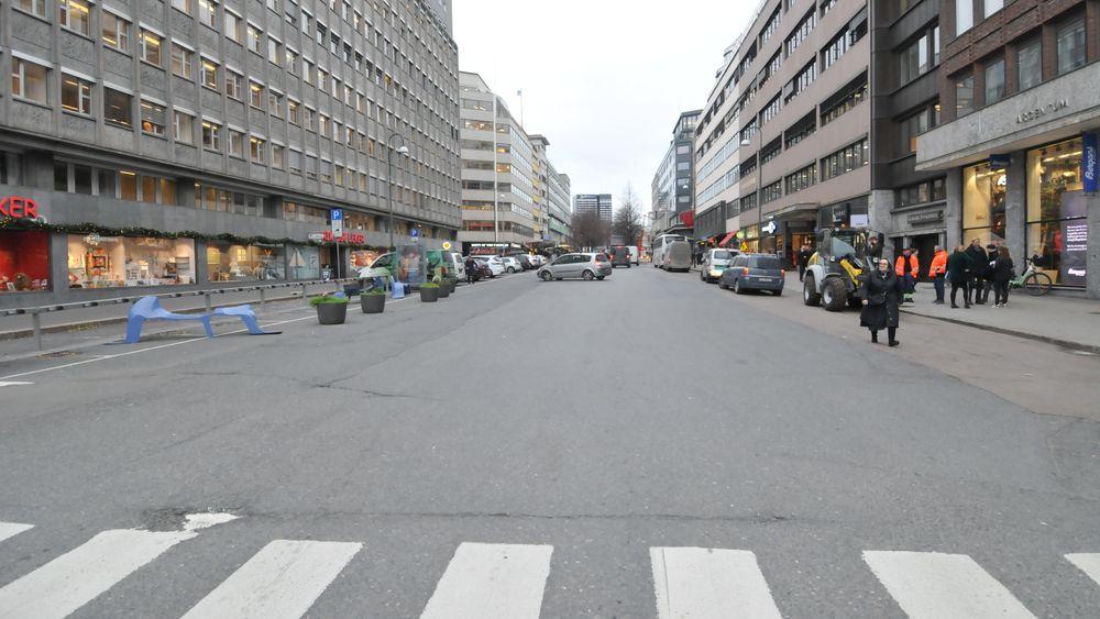 Olav Vs gate ved Nationaltheatret i Oslo skal få en ny og mer fotgjengervennlig drakt. Anleggsplassen skal vise verden at utslippsfri anleggsdrift er mulig.