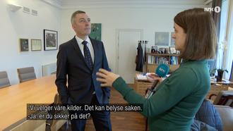 Skjermdump fra NRKs intervju med Frank Bakke Jensen
