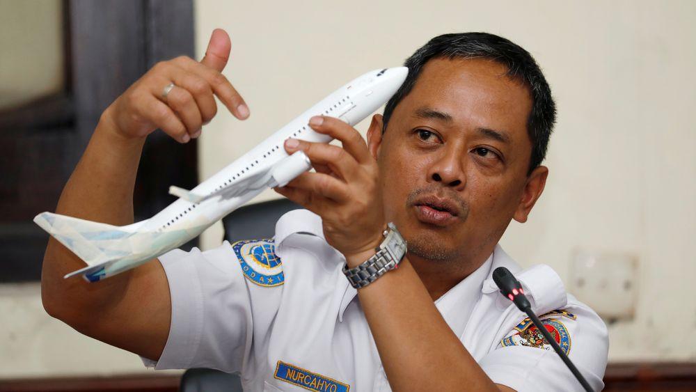 Nurcahyo Utomo, som leder undersøkelsen av Lion Air-ulykken, la fram KNKTs foreløpig rapport onsdag.