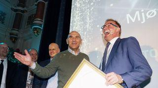 Mjøstårnet vant den nye byggprisen under Norwegian Tech Awards