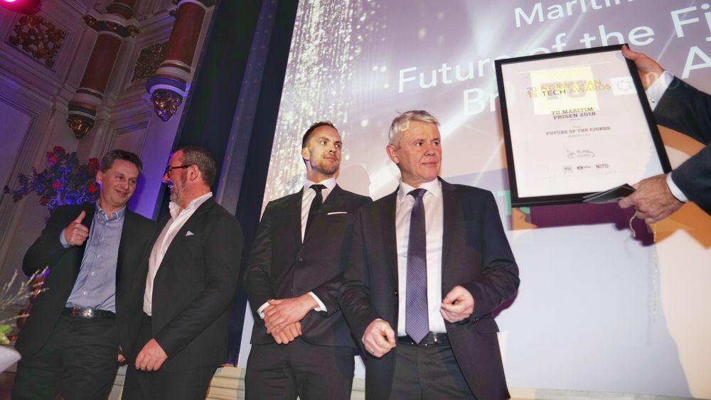 Brødrene Aa og Future of the Fjords vant tidenes første maritim-pris under Tech Awards.