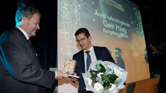 Kongsberg-sjef Geir Håøy er årets teknologileder
